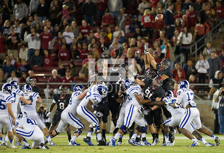STANFORD, CA - September 8, 2012: Stanford Cardinal vs the Duke Blue Devils at Stanford Stadium in Sanford, CA. Final score Stanford 50, Duke 13..