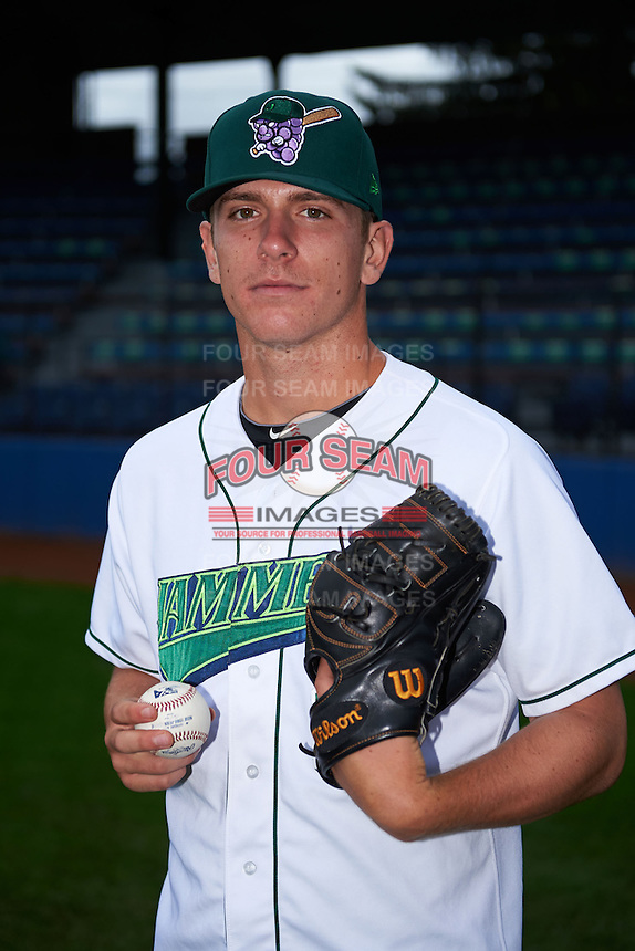 Jamestown Jammers pitcher Chad Kuhl (11) poses for a photo before a game against the State College Spikes on September 3, 2013 at Russell Diethrick Park in Jamestown, New York.  State College defeated Jamestown 3-1.  (Mike Janes/Four Seam Images)