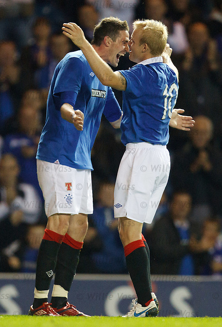Kyle Lafferty celebrates after scoring his hat-trick of goals