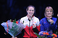 SHORT TRACK: ROTTERDAM: Ahoy, 12-03-2017, KPN ISU World Short Track Championships 2017, Podium Overall Classification Ladies, Marianne St-Gelais (CAN), Elise Christie (GBR), ©photo Martin de Jong