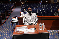 Philonise Floyd, brother of George Floyd, is seen after a United States House Judiciary Committee hearing to discuss police brutality and racial profiling on Wednesday, June 10, 2020.<br /> Credit: Greg Nash / Pool via CNP/AdMedia