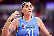 Washington, DC - July 13, 2018: Chicago Sky center Stefanie Dolson (31) argues a call with the referee during game between the Washington Mystics and Chicago Sky at the Capital One Arena in Washington, DC. The Mystics defeat the Sky 88-72 (Photo by Phil Peters/Media Images International)