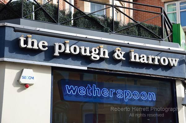 The Plough and Harrow Wetherspoon pub in King Street, Hammersmith, London, UK.