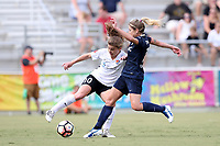 Cary, North Carolina  - Saturday July 01, 2017: Daphne Corboz and McCall Zerboni during a regular season National Women's Soccer League (NWSL) match between the North Carolina Courage and the Sky Blue FC at Sahlen's Stadium at WakeMed Soccer Park. Sky Blue FC won the game 1-0.