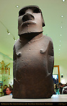 Hoa Hakananai'a, lost or stolen friend, Moai, ancestor figure, Basalt, Rapanui, Easter Island c. 1200, British Museum, London, England, UK