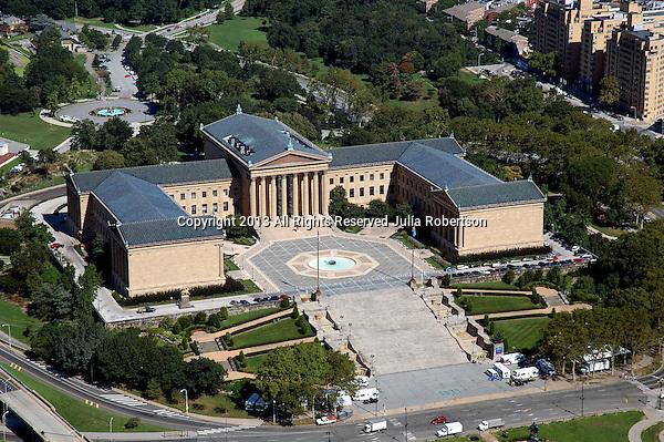 Aerial view of the Philadelphia Art Museum