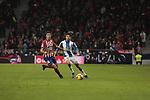Atletico de Madrid's Rodrigo Hernandez and RCD Espanyol's Didac Vila during La Liga match between Atletico de Madrid and RCD Espanyol at Wanda Metropolitano Stadium in Madrid, Spain. December 22, 2018. (ALTERPHOTOS/A. Perez Meca)