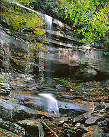 Rainbow Falls in early fall; Great Smoky Mountains National Park, TN