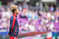 Orlando, FL - Saturday April 22, 2017: Estelle Johnson during a regular season National Women's Soccer League (NWSL) match between the Orlando Pride and the Washington Spirit at Orlando City Stadium.