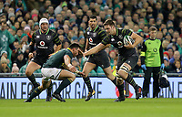 Saturday 11th November 2017; Ireland vs South Africa<br /> Iain Henderson fends off Jesse Kriel during the Guinness Autumn Series between Ireland and South Africa at the Aviva Stadium, Lansdowne Road, Dublin, Ireland.  Photo by DICKSONDIGITAL