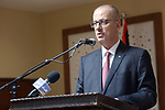Palestinian Prime Minister, Rami Hamdallah attends the opening of the building of the Magistrate Court Dora, in the West Bank city of Hebron, on February 27, 2019. Photo by Prime Minister Office