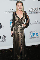 HOLLYWOOD, LOS ANGELES, CA, USA - OCTOBER 30: Becca Tobin arrives at UNICEF's Next Generation's 2nd Annual UNICEF Masquerade Ball held at the Masonic Lodge at the Hollywood Forever Cemetery on October 30, 2014 in Hollywood, Los Angeles, California, United States. (Photo by Rudy Torres/Celebrity Monitor)