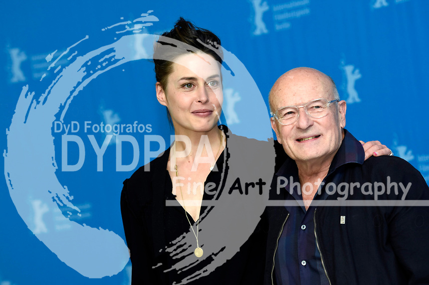 Susanne Wolff and Volker Schlöndorff during the 'Return To Montauk' photocall at the 67th Berlin International Film Festival / Berlinale 2017 on February 15, 2017  in Berlin, Germany.