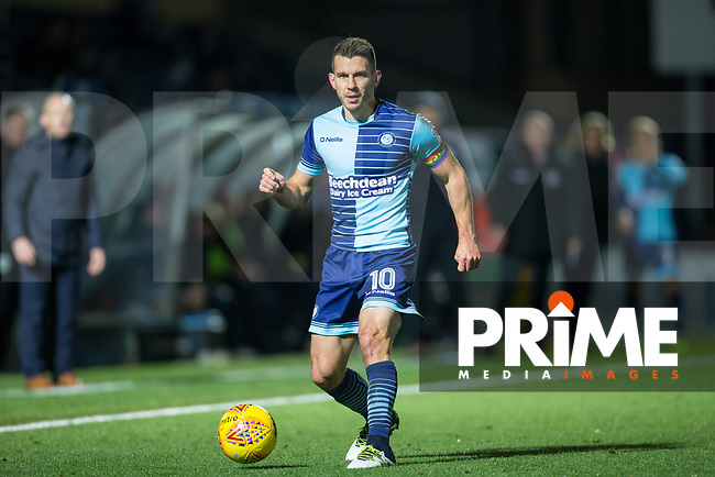 Matt Bloomfield of Wycombe Wanderers during the Sky Bet League 2 match between Wycombe Wanderers and Yeovil Town at Adams Park, High Wycombe, England on 25 November 2017. Photo by Andy Rowland.