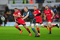 Luke Price of Ospreys in action during the Heineken Champions Cup Round 5 match between the Ospreys and Saracens at the Liberty Stadium in Swansea, Wales, UK. Saturday January 11 2020.