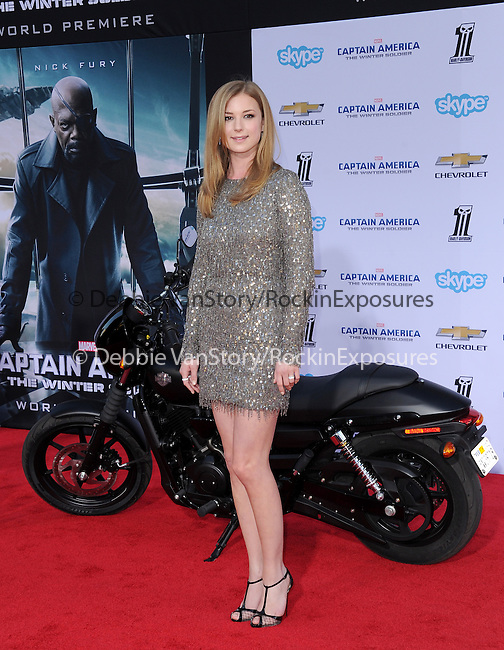 Emily VanKamp attends The Marvel World Premiere of Captain America; The Winter Soldier held at The El Capitan in Hollywood, California on March 13,2014                                                                               © 2014 Hollywood Press Agency