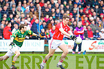 Kerry's Padraig O'Connor and Cork's Daniel Goulding.
