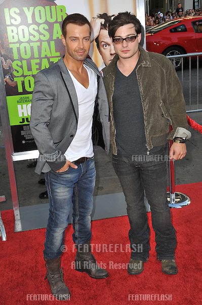 """Joseph Lawrence (left) & brother Matthew Lawrence at the Los Angeles premiere of """"Horrible Bosses"""" at Grauman's Chinese Theatre, Hollywood..June 30, 2011  Los Angeles, CA.Picture: Paul Smith / Featureflash"""