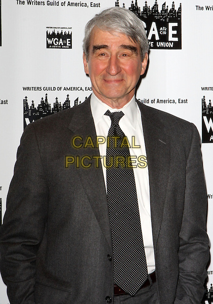 SAM WATERSTON.61st Annual Writers Guild Awards held at The Hudson Theatre at Millennium Broadway Hotel, New York, NY, USA..February 7th, 2009.half length black grey gray suit jacket.CAP/ADM/PZ.©Paul Zimmerman/AdMedia/Capital Pictures.