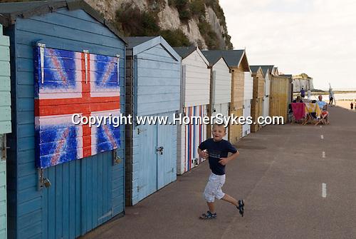 British beach hut Broadstairs Kent Uk