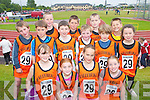 COMMUNITY: Ballyheigue kids competing for medals at the Community Games County Finals at An Riocht Track, Castleisland, last Saturday. Front row l-r: Holly Carroll, Ella Horgan, Rachel Walsh and Ciara Reidy. Back row l-r: David Kissane, Frazier Irvine, Brendan Reidy, Conor Galway, Michael Leane, Brendan Walsh, Kieran Regan, Callum Irvine, Christopher Heffernan and Megan Harkin..