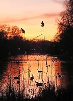 DEC 18 Sunset over St James Park Lake