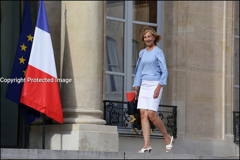 NICOLE BRICQ - 19 AOUT 2013 - PARIS - FRANCE - SEMINAIRE DE RENTREE DU GOUVERNEMENT AYRAULT A L'ELYSEE