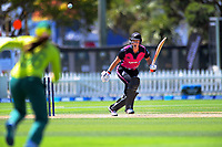 Sophie Devine bats during the International Women's Twenty20 Cricket match between the New Zealand White Ferns and South Africa Proteas at Basin Reserve in Wellington, New Zealand on Monday, 10 February 2020. Photo: Dave Lintott / lintottphoto.co.nz