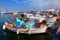 Local fishing boats in the port of Aegina, Greek Saronic Islands