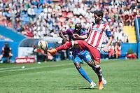 VALENCIA, SPAIN - MARCH 10: Sissoko during BBVA LEAGUE match between Levante U.D. Andr Atletico de Madrid at Ciudad de Valencia Stadium on March 10, 2015 in Valencia, Spain
