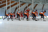 SCHAATSEN: LEEUWARDEN: 21-06-2016, ELFSTEDENHAL, Training Zomerijs,Team Just Lease, ©foto Martin de Jong