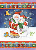 Interlitho, Andrea, CHRISTMAS SANTA, SNOWMAN, paintings, santa, snowman(KL5809,#X#)