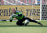 Seattle Sounders FC goalkeeper Kasey Keller #18 in action during the warm-up in an MLS game between the Seattle Sounders FC and the Toronto FC at BMO Field in Toronto on June 18, 2011..The Seattle Sounders FC won 1-0.