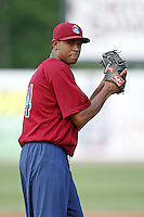 June 24, 2009:  Pitcher Jose Urena of the Mahoning Valley Scrappers during a game at Eastwood Field in Niles, OH.  The Scrappers are the NY-Penn League Short-Season Single-A affiliate of the Cleveland Indians.  Photo by:  Mike Janes/Four Seam Images