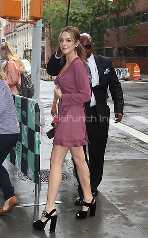NEW YORK, NY - OCTOBER 9: Elizabeth Gillies spotted arriving at 'AOL Build' in New York, New York on October 9 , 2017.  Photo Credit: Rainmaker Photo/MediaPunch