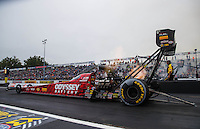 Oct 1, 2016; Mohnton, PA, USA; NHRA top fuel driver Shawn Langdon during qualifying for the Dodge Nationals at Maple Grove Raceway. Mandatory Credit: Mark J. Rebilas-USA TODAY Sports