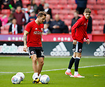 Billy Sharp of Sheffield Utd warming up during the Championship League match at Bramall Lane Stadium, Sheffield. Picture date 19th August 2017. Picture credit should read: Simon Bellis/Sportimage