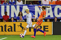 Atlanta, GA - Sunday Sept. 18, 2016: Megan Rapinoe, Vivianne Miedema during a international friendly match between United States (USA) and Netherlands (NED) at Georgia Dome.