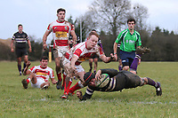 Romford go over for their first try during Epping Upper Clapton RFC vs Romford & Gidea Park RFC, London 2 North East Division Rugby Union at Upland Road on 6th January 2018