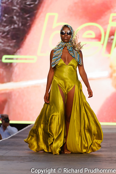 Montreal,Canada,  25/08/2017. A model walks on the runway at the Beige by Michele Adrienne fashion show held during the Fashion and Design Festival.