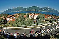 Picture by Pier Maulini/SWpix.com 27/05/2015 Cycling - Giro d'Italia - 27/05/2015 - Stage Seventeen - Tirano - Lugano ( Switzerland )<br /> copyright picture - Simon Wilkinson - simon@swpix.com<br /> Transit on Menaggio