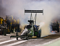 Sep 2, 2016; Clermont, IN, USA; NHRA top fuel driver Brittany Force during qualifying for the US Nationals at Lucas Oil Raceway. Mandatory Credit: Mark J. Rebilas-USA TODAY Sports