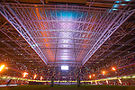 Pyrotechnics light up the Millennium Stadium as the teams enter the arena.<br /> RBS 6 Nations 2014<br /> Wales v France<br /> Millennium Stadium<br /> 21.02.14<br /> <br /> ©Steve Pope-SPORTINGWALES