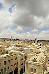 Israel, Jerusalem Old City, a view of the Jewish quarter from the Hurva synagogue