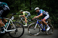 Ludovic Robeet (BEL/Wallonie Bruxelles), Adrien Petit (FRA/Total - Direct Energie) climbing<br /> <br /> Circuit de Wallonie 2019<br /> One Day Race: Charleroi – Charleroi 192.2km (UCI 1.1.)<br /> Bingoal Cycling Cup 2019