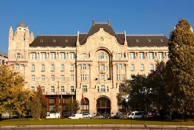 Four Seasons Hotel in The Art Nouveau Gresham Palace, Budapest, Hungary