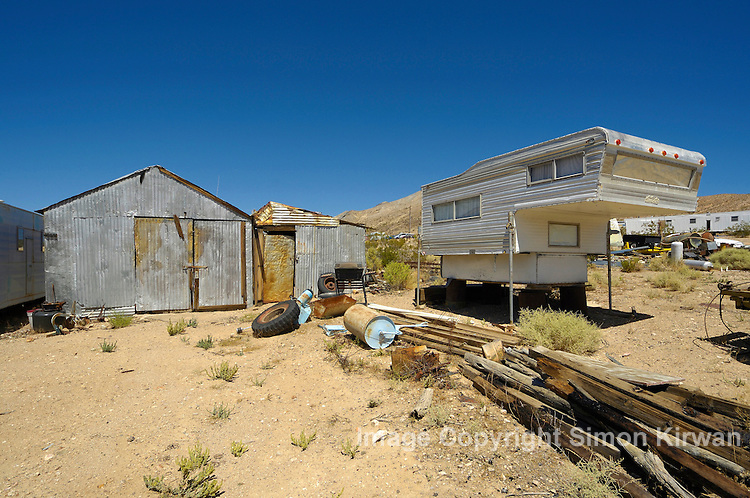 Darwin ghost town, California, USA