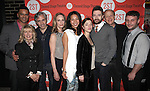 Christopher Jackson, Artistic Director Carole Rothman, Playwright Paul Weitz, Lisa Emery, Maureen Sebastian, Olivia Thirlby, Topher Grace, Mark Blum & Director Trip Cullman.attending the Off-Broadway Opening Night Performance Party for the Second Stage Theatre's 'Lonely, I'm Not' at HB Burger in New York City on 5/7/2012.