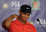 Tiger WOODS (USA) im Interview,4.Runde, 88th PGA Championship Golf, Medinah Country Club, IL, USA