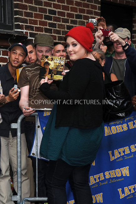 WWW.ACEPIXS.COM . . . . . ....June 16 2008, New York City....Singer Adele made an appearance at the 'Late Show with David Letterman' at the Ed Sullivan Theatre, June 16 2008, New York City....Please byline: KRISTIN CALLAHAN - ACEPIXS.COM.. . . . . . ..Ace Pictures, Inc:  ..(646) 769 0430..e-mail: info@acepixs.com..web: http://www.acepixs.com